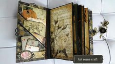 Lots of pictures of a beautiful album, very rich! Look at the video too. Art some craft: DCWV Timeless Type Junk Journal