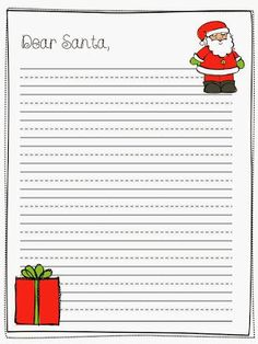 Santa Wish List Template  Worksheets Santa And Template