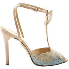 Pre-owned Charlotte Olympia Glitter Sandals ($309) ❤ liked on Polyvore featuring shoes, sandals, multicolour, women shoes sandals, stiletto sandals, ankle wrap sandals, blue stilettos, blue sandals and heels stilettos