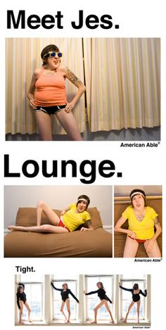 American Able - A project showcasing Jes Sachse, who has Freeman-Sheldon syndrome. Interesting to me because American Apparel often has really sexist ads, but they approved the creation and public display of this art project.
