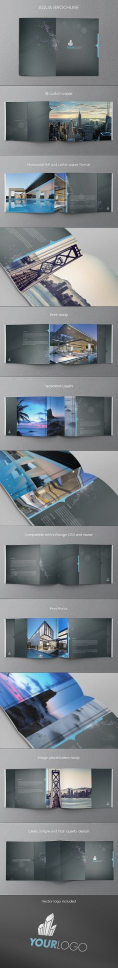 Aqua Premium Brochure. Download here: http://graphicriver.net/item/aqua-premium-brochure/4646509 #design #brochure