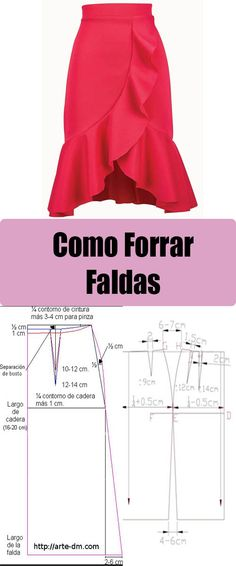 Curso Como forrar una falda o pollera #patrones #moldes #costura #cursos #sewing #skirt Pattern Drafting Tutorials, Skirt Patterns Sewing, Sewing To Sell, Fashion Templates, Scarf Dress, Sewing Lessons, How To Make Clothes, Fashion Design Sketches, Pattern Cutting