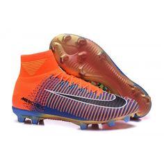 info for 2a03c f07fe Comercio Botas De Futbol Nike Mujer Mercurial Superfly V EA Sports FG Azul  Naranja Negro