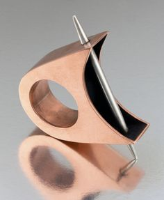 """Self Defense"" by Jessica Todd- love the open look into the hollow form, and the spike bisecting it!"