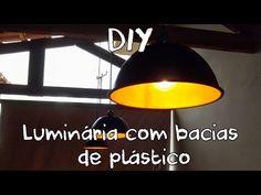 DIY // Luminária (pendente) feita com bacias de plástico - YouTube