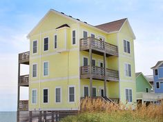 """Set sail and drop anchor on beautiful Hatteras Island!  """"Anchor's Out"""" is a well-appointed Oceanfront retreat with easy beach access and panoramic ocean views. If you want to take a break from the beach you can still enjoy the sun and island feel in your very own private heated pool and seven person hot tub!  The ground level elevator insures easy access to all levels of this home.  On the first level, there is a Media Room so that you can unwind with a movie on the large screen TV and…"""