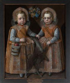 Pieter Feddes Harlingensis, portrait of twin brothers Homme en Juw van Harinxma thoe Slooten - 1609