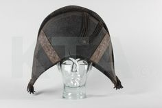 A Bicorne Hat, Circa 1790, Of Black Beaver Adorned With Metal Coils And Tassels, Silk Ribbon, Lined In Glazed Cotton, 25cm, 17 4/4in Wide