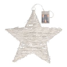 Shed a little light on your holiday gatherings and create a warm and relaxed ambience. A beach, modern or rustic setting is where this white string, LED star will shine best.