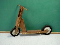 Vintage wooden scooter. Original source - http://www.etsy.com/listing/98230902/vintage-wooden-scooter-diy-popular