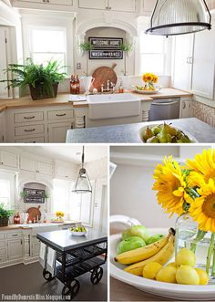 LOVE the fruit bowl/tray with a vase of flowers within