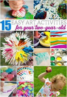 These easy art activities for two year olds will bring out the artist in your child!
