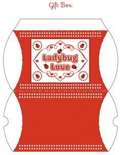 free ladybug printable gift boxes