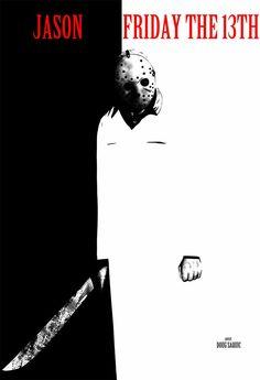 Art by Doug Saquic Friday the 13th Jason movie fan fun art find