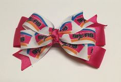 NBA San Antonio Spurs Old School Logo Hair Bow with by ByChinchie