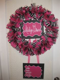 Birth announcement wreath @Barri Daniel