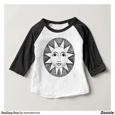 Smiling Sun Baby T-Shirt #Sun #SunShine #Star #Shirt #Tshirt #Tee #Fashion #Bodysuit #Baby #Infant