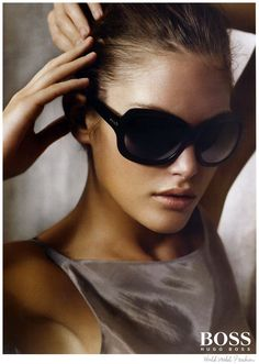 Catherine McNeil photographed by Mario Testino for Hugo Boss. Beautiful sunglasses.