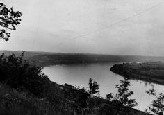 Cincinnati train robbery was first in U.S. history. Photo: Looking from Cliff Drive near North Bend, Ohio. The bandits allegedly swam across this part of the river to escape. From The Enquirer archives