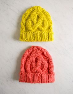 Beat the winter blues with a DIY knitted cable cap.