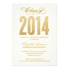 Fabstyledesign: Sparkle Graduation Invitation