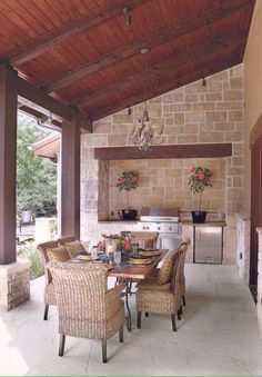 outdoor kitchen area <3