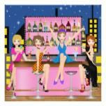 Girls Night Out - Bachelorette - SRF 5.25x5.25 Square Paper Invitation Card http://www.zazzle.com/girls_night_out_bachelorette_srf_invitation-161054015462408578?rf=238756979555966366&tc=PtMPrssFMSdivParty   ~ Customize it to suit your needs.   It's a template. Thank you and have fun !  Please visit often, Sharon Rhea Ford, NBCT-Art  (www.zazzle.com/sharonrhea*) Please Bookmark Me ! As always, I love and grab the art of Tracy Therrien: original artwork©delightful-doodles.com.