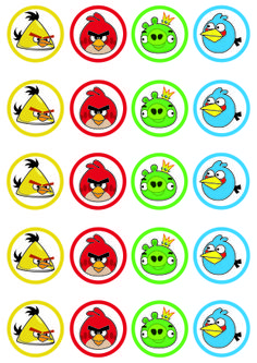 Toppers Imprimibles Angry Birds