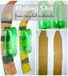 Even if you don have snow or plan to visit fancy skiing resort, kids can still have fun skiing at home with homemade skis. Winter Activities For Kids, Kids Party Games, Craft Activities For Kids, Indoor Activities, Winter Olympic Games, Winter Olympics, Winter Fun, Winter Theme, Olympic Idea