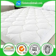 Quilted Small Check Terry Cloth 100% Waterproof White Mattress Protector in Los Angeles