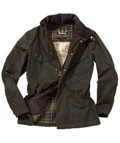 Mens Barbour Waxed Hardwick Jacket-Olive