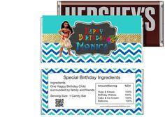 partyexpressinvitations - Disney Moana Birthday Candy Bar Wrappers, $4.50 (http://www.partyexpressinvitations.com/disney-moana-birthday-candy-bar-wrappers/)