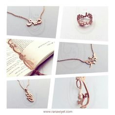 There never is enough #rosegold in the world! 😍 Agree? Shop all pieces and benefit from great vouchers this month! More details inside the shop and on the website. www.ranawiyet.com  #rosegoldjewelry #personalized #customised #arabic #arabicalligraphy #handmade #custommade #goldplated #ring #bookmark #necklace #bangle #pendant #arabicjewelry #arabicgfts