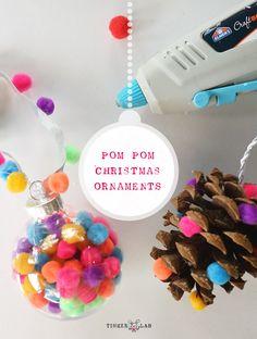 pom pom Christmas ornaments