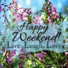 Weekend Quotes : QUOTATION – Image : Quotes Of the day – Description Happy Weekend! Live, Laugh, Love happy weekend weekend quotes flowers Sharing is Caring – Don't forget to share this quote ! Happy Weekend Pictures, Happy Weekend Quotes, Saturday Quotes, Happy Quotes, Morning Quotes, Night Quotes, Weekend Messages, Quotes Friday, Emo Quotes