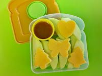 Great ideas for 'bento' materials- including playdoh cutters for meat and cheese.