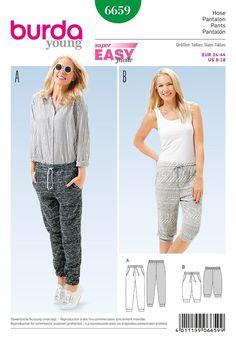 Burd... Burda Ladies Easy Sewing Pattern 6735 Casual Trouser Pants /& Shorts