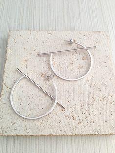 Hoop Earring,Silver Hoop Earring,Silver Geo Earring,Geo Earring,Silver Bar Earring,Circle Hoop Earring,Silver Circle Hoop Earring by lovestylelife on Etsy https://www.etsy.com/se-en/listing/480019111/hoop-earringsilver-hoop-earringsilver