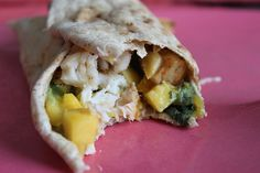 Recipe For Tilapia Wrap With Mango Salsa and Guacamole, great right now for lent!