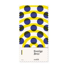 duanedalton:  New design added to my #basicstamps project. #Sweden #design #stamp #dots