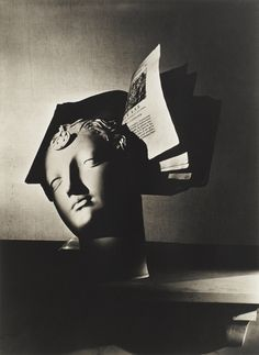HORST P. HORST 1906 - 1999 'NEEDLE POINT STUDY, BUST AND BOOK, PARIS', 1937 'STILL LIFE, PARIS (HOUDON...)', 1937 Two silver prints on Agfa paper, printed later. One print with the photographer's facsimile signature blind stamp, the other print signed in pencil in the lower margin. One print signed, titled, dated and annotated © HORST and silver, the other with the photographer's copyright stamp and titled and dated in red crayon on the reverse.  Images 30.3 x 23.2 cm and 46.5 x 34 cm