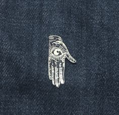 Image of BLACK/SILVER HAND PIN
