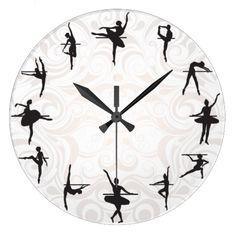 Shop Ballet School Ballerina Dance Wall Clock created by Jolanta_Prunskaite. Ballet Room, Ballet Girls, Ballerina Dancing, Ballerina Nails, Ballerina Ornaments, Ballerina Baby Showers, Dance Rooms, Art Optical, Ballet School