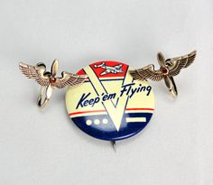 Aviation WWII Sweetheart Jewelry 40s by JazzBabiesVintage on Etsy