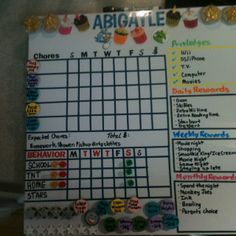 Chore and discipline chart