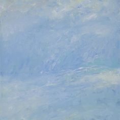Rautio: Sea and the sky - Lauttasaarenselkä maaliskuussa, 80x80 cm, oil on canvas, March 2016