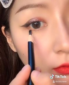 Day Eye Makeup, Korean Eye Makeup, Makeup Eye Looks, Eye Makeup Steps, Natural Eye Makeup, Makeup Tips, Korean Makeup Hacks, Makeup For Asian Eyes, Korean Wedding Makeup