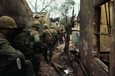 US Marines during the Battle of Huế during the Tet Offensive, 1968.