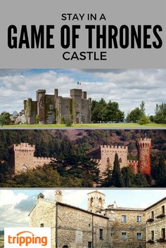 Bucket List: live like a Stark, party like a Lannister, ride dragons like a Targaryen...ok, two out of three ain't bad! These castles are all available for rent on Tripping.com, so the next time you're looking to host a serious Game of Thrones viewing party, why not do it in style? Or just enjoy a royal vacation in Ireland, Italy, or England. Click for more details!