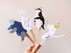 Animal Paper Puppets on Behance